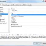 Excel Datumsformate