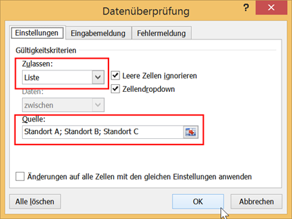 So erstellen Sie Dropdown-Listen in Excel - Anuschka Schwed IT-Training