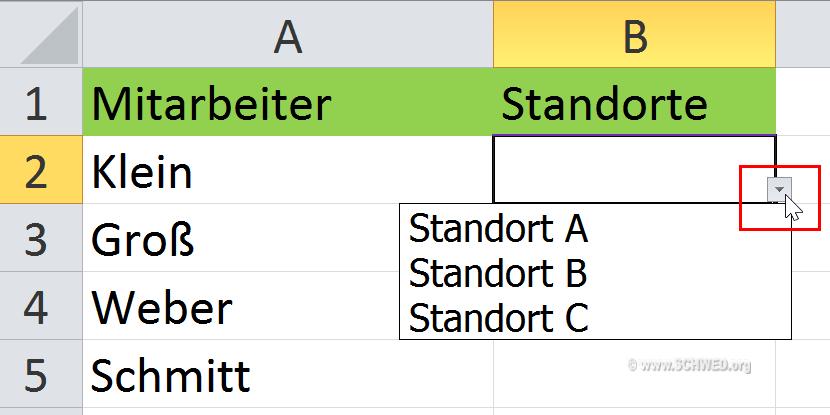 So erstellen Sie Dropdown-Listen in Excel - Anuschka Schwed IT-Training
