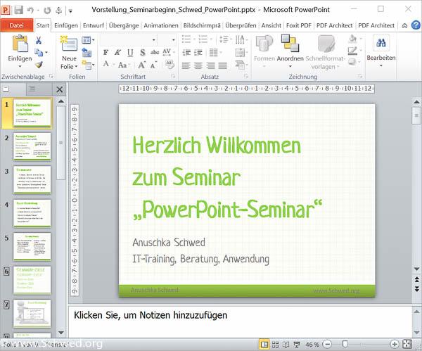 Powerpoint Schulungen Anuschka Schwed