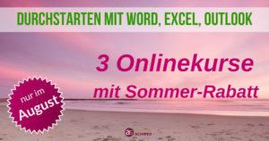 Sommer-Rabatt für 3 Onlinekurse