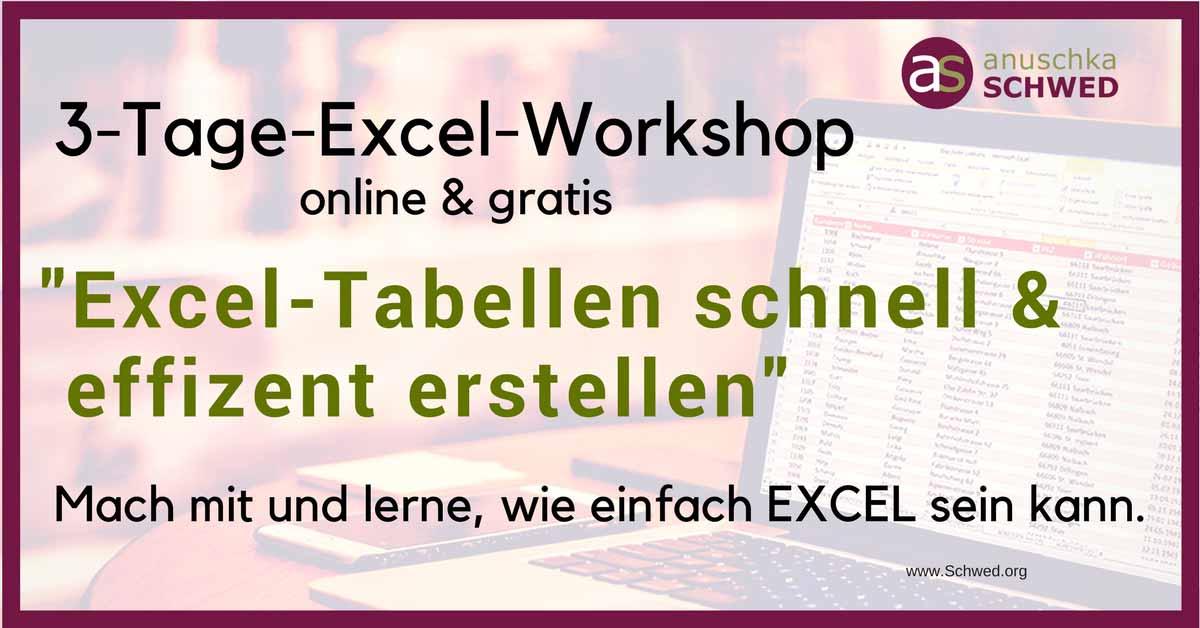 Gratis 3-Tage-Excel-Workshop
