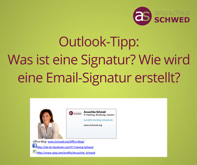 signatur email outlook
