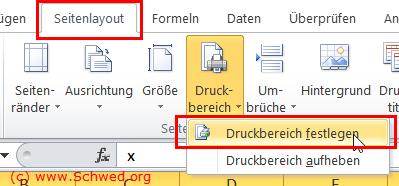 Excel Druckbereich Festlegen