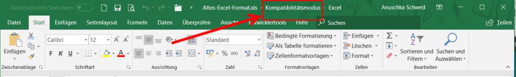 Excel-Datei-Hinweis-Kompatibilitaetsmodus