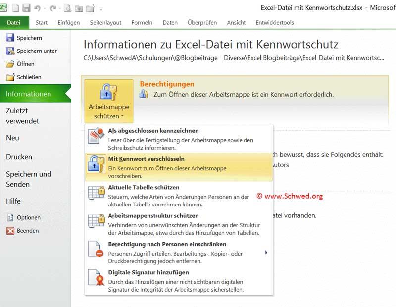 Excel Schreibschutz aufheben - Anuschka Schwed