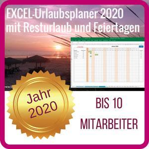 Excel-Urlaubsplaner-2020-10 Mitarbeiter