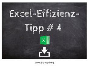 Excel-Effizienz-Tipp 4