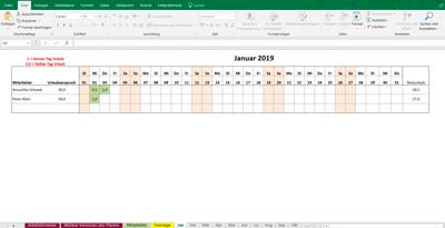 Kostenloser Excel Urlaubsplaner 2019