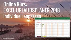 Onlinekurs Excel-Urlaubsplaner individuell anpassen