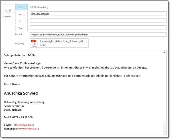 Tipps Für Professionelle E Mails Anuschka Schwed