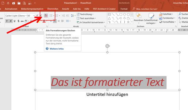 PowerPoint-Alle Formatierungen löschen