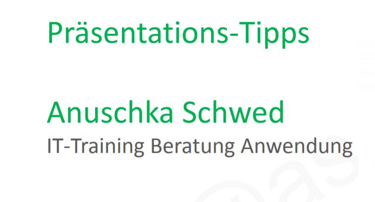 Praesentationstipps für bessere PowerPoint-Präsentationen