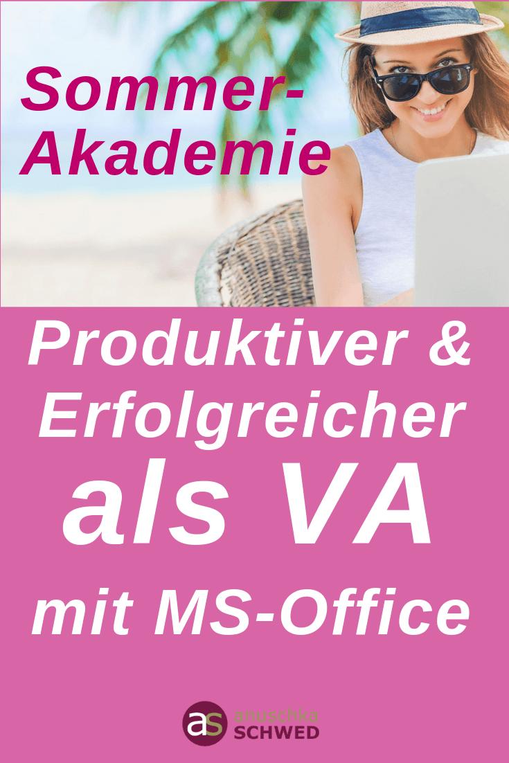 Sommerakademie-MS-Office für mehr Produktivität im Büroalltag