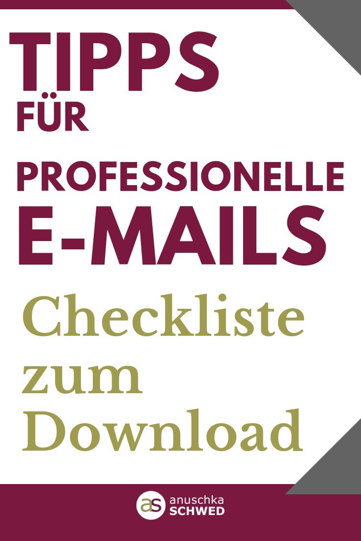 Tipps für professionelle E-Mails