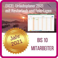Excel-Urlaubsplaner-2021-10 Mitarbeiter