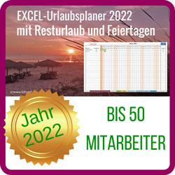 Excel Vorlage Urlaubsplaner 2022
