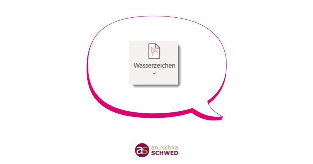 2013 entwurf word wasserzeichen Word: Wasserzeichen