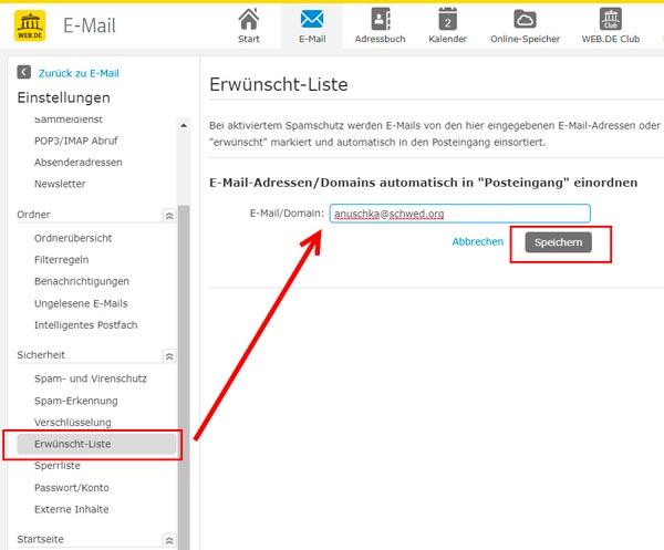 Web-DE-Hinweis-Vertrauenswürdige Email-Adresse