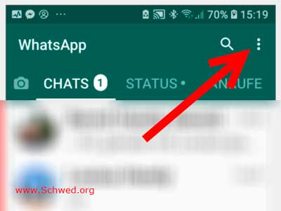 Whatsapp-Einstellungen aufrufen