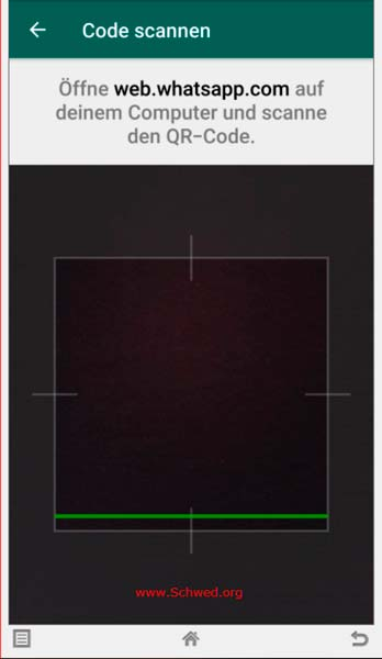 Whatsapp QR-Code scannen