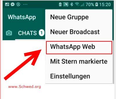 WhatsappWeb auf dem Telefon starten