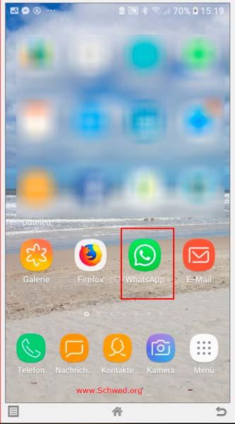 Whatsapp auf dem Telefon starten