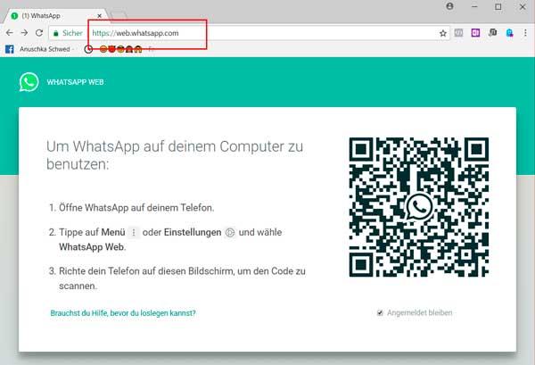 Whatsapp im Browser aufrufen