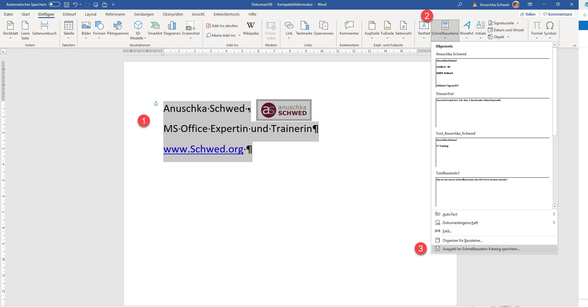 Word-Textbaustein-erstellen